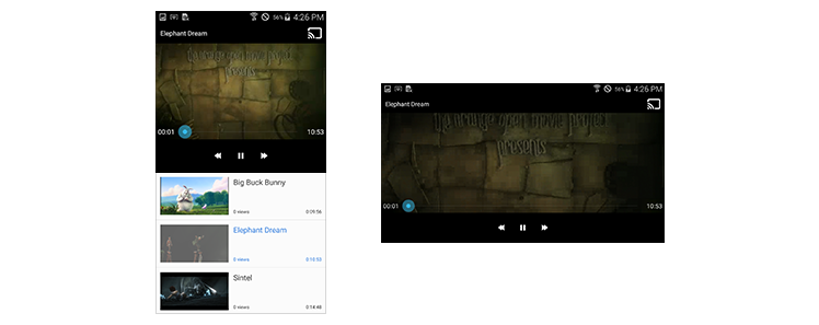 Figure 7-8. The Cast button shown on the Playback window
