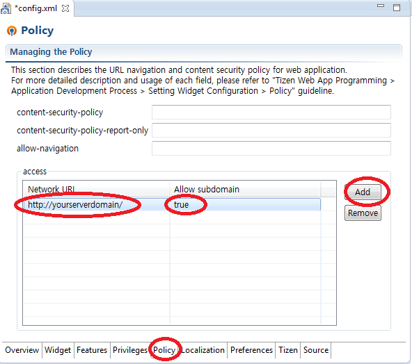 Figure 1. Adding Network Policy